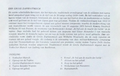 Grosse Zapfenstreich tekst