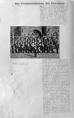 Het trompetterkorps der Cavalerie