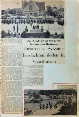 Huzaren van Sytzama herdachten doden in Voorthuizen
