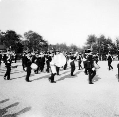Puinhoop tijdens de Fehrbelliner Reitermarsch