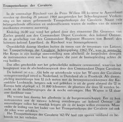 Tekst Trompetterkorps der Cavalerie