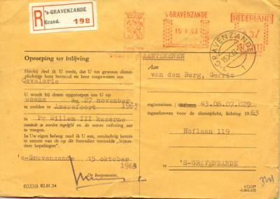 f 1963 dienst oproep15-10-1963