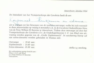 Uitnodiging jaarlijkse ontvangst met Grosse Zapfenstreich