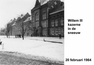 64-02-20 Willem III kazerne in de sneeuw-a
