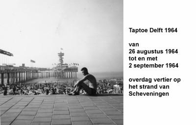 64-08-26 tot 64-09-02Taptoe Delft overdag vertier aan het strand in Scheveningen