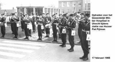 65-02-17 Optreden voor het Gewestelijk Militair Hospitaal te Utrecht tijdens ziekte van huzaar Pijlman-a