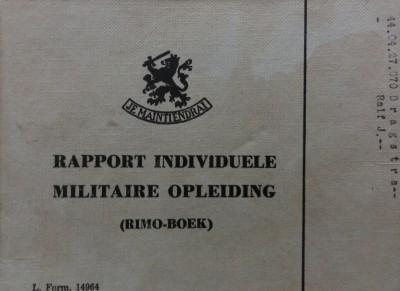 relikwieen 05 rapport individuele militaire opleiding
